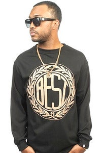 Image of Monogram black long sleeve