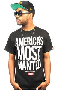 Image of Most Wanted Black Tee