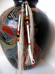 Image of White and Red Dangles