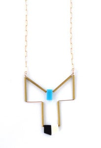 Image of Phoenix (Black/Bone/Turquoise + Gold/Brass)