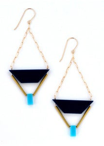 Image of Shandy (Navy/Turquoise + Gold/Brass)
