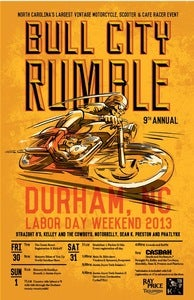 "Image of NEW! Bull City Rumble 9 Small Event Poster 11"" x 17"" (Pre-Sale)"