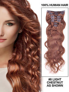 "Image of 20"" MYLUXURY1ST Body Wavy Clip-in Hair Extensions"