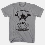 Image of Bass Brigade Skull & Hooks Tee - Athletic Heather