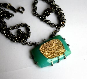 Image of 24k Gold Plated Drusy Pendant