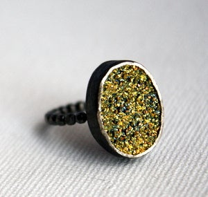 Image of Chartreuse Drusy Ring