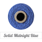 Image of Solid Midnight Blue Twine Spool - 240 yards