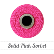 Image of Solid Pink Sorbet Twine Spool - 240 yards