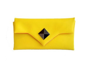 Image of Yellow Diamond Clutch