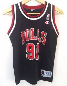 Image of Vintage Champion Rodman Jersey - Black
