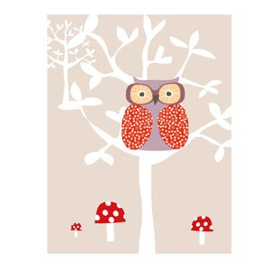 Image of Owl Tree Art Print