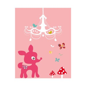 Image of Chandelier Fawn Art Print