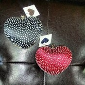 Image of Studded Heart Clutch Purse