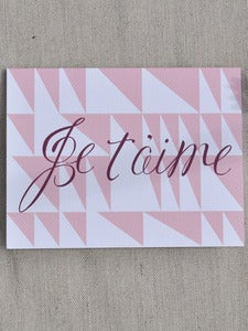 Image of Je t'aime Note Card