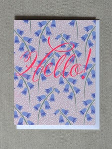 "Image of ""Hello"" Bluebells Note Card"