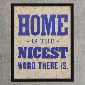 Image of Home is the Nicest (Vintage Wallpaper, Framed)