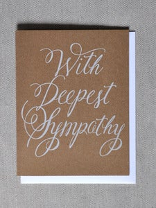 Image of &quot;With Deepest Sympathy&quot; Note Card