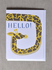 Image of &quot;Hello&quot; Giraffe Note Card