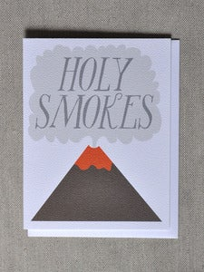 "Image of ""Holy Smokes"" Volcano Note Card"