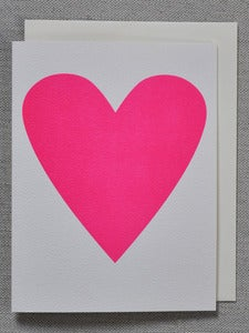 Image of Neon Pink Heart Card