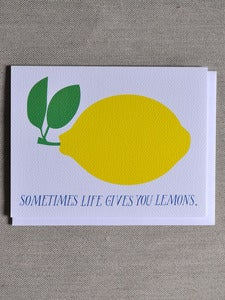 "Image of ""Sometimes Life Gives You Lemons"" Notecard"