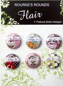 "Image of Birthday Girl Flair - 6 x 1"" Flatback Buttons / Badges - Rourke's Rounds"