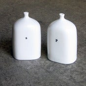 Image of vial salt + pepper shakers