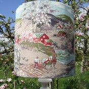 Image of Blossom Scenic Barkcloth Lampshade