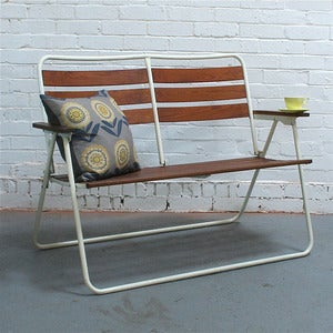 Image of Vintage Folding Garden Bench - SOLD