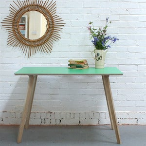 Image of Perky Formica Table / Desk in Pea Green (One-off) - SOLD