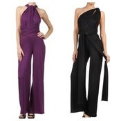 Image of Bold & Beautiful Jumpsuit (Colors: Dk. Purple, Black)