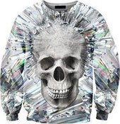 Image of Crystal Skull Overprint Sweatshirt