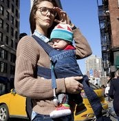 Image of REWEAR NYC Recycled Denim Baby Carrier