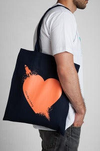 Image of Breaking Hearts Salmon Tote Bag