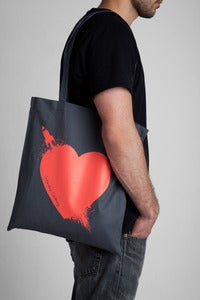 Image of Breaking Hearts Flamingo Tote Bag