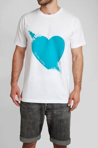 Image of Breaking Hearts T-Shirt Wht/Ptrl