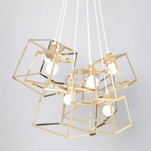 Image of 7 Piece Frame Cluster, Brass or Copper