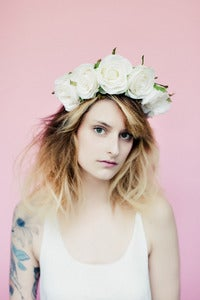 Image of Ivory Rose Floral Crown