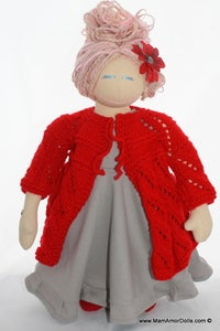 Image of Knitted Cardigans for MamAmor Dolls-  Long - 