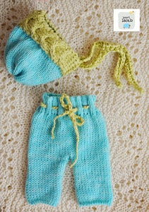 Image of Green & Blue Hat and Pant Set