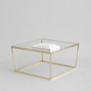 Image of Frame Coffee Table, Brass