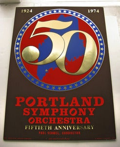 Image of 1974 Robert Indiana Portland Maine Symphony Silkscreen