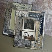 Image of antiqued mirror 4x6 frame