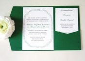 Image of ELSKA POCKETFOLD WEDDING INVITATION - SAMPLE