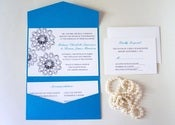 Image of LASKA POCKETFOLD WEDDING INVITATION - SAMPLE