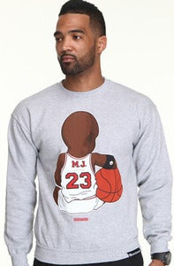 Image of Baby MJ Crewneck-Sport Gray
