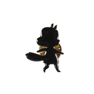 Image of FOXY GIRL pin's black by Lucille Michieli