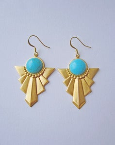 Image of Hero Turquoise Art Deco Earrings