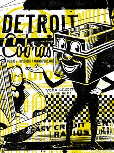 Image of The Detroit Cobras Concert Poster, Minneapolis, MN