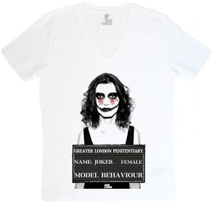 Image of Female Joker - V-Neck Weiß - Mann